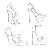 Artikel Schuhen auf hohen Absätzen Set