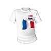 Frankreich T-Shirt Flagge