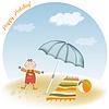 ID 3764292 | Kleiner Junge am Strand | Stock Vektorgrafik | CLIPARTO