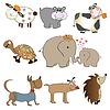 Vektor Cliparts: funny animals cartoon set