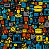 Nahtlose Muster von Business-Symbole