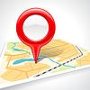 Abstrakte Karte mit glänzenden Marker