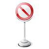 Red verboten Verkehrszeichen