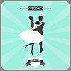 Hochzeitseinladung Retro-Karte