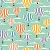 Retro nahtlose Reisen Muster von Ballons