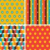 Nahtlose abstrakte geometrische Retro-Muster