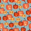 Хэллоуин бесшовные модели с тыквами | Векторный клипарт