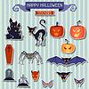 Happy Halloween-Aufkleber für Design