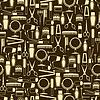 Friseurinstrumente nahtlose Muster im Retro-Stil