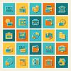 ID 3879898 | Satz von Geschäfts-und Bankenviertel Symbolen | Stock Vektorgrafik | CLIPARTO