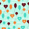 Nahtlose Muster mit Luftballons im Retro-Stil