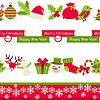 ID 3916478 | Merry Christmas seamless borders | Klipart wektorowy | KLIPARTO