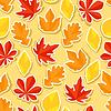 Nahtlose Muster mit Aufklebern Herbstlaub