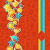 Nahtlose Muster mit Trophäe und Auszeichnungen Aufkleber