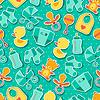 Nahtlose Muster mit Neugeborenen Aufkleber