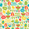 Happy Easter nahtlose Muster | Stock Vektrografik
