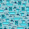Nahtlose Muster mit Sanitäreinrichtungen