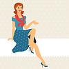 Card mit schönen pin up girl Stil der 1950er Jahre