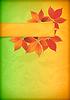 Herbst-Blätter auf alten zerknittertes Papier mit Banner