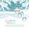 메리 크리스마스 & 신년 축 하 배경 | Stock Vector Graphics
