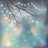 Christmas Light Bulbs auf Weihnachten Nacht Hintergrund