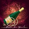 Grußkarte mit Champagner