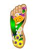 Fuß mit Blumen | Stock Vektrografik