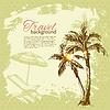 Reisen vintage tropischen Design. Splash Blob retro