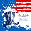 4. Juli Hintergrund mit der amerikanischen Flagge.