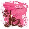 Wein Jahrgang Hintergrund. . Splash Blob re