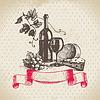 Wein Jahrgang Hintergrund