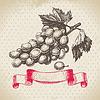 Wein Jahrgang Hintergrund mit Trauben