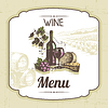 Weinlese-Wein-Menü-Hintergrund