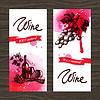 Banner von Wein Vintage Hintergrund. Wasserfarbe