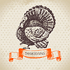 Vintage Thanksgiving Day Hintergrund