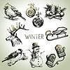 Winter Christmas set