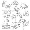 Malbuch mit Insekten