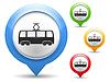 Vector clipart: Tram Icon