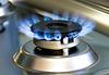 Kuchenka gazowa włączony | Stock Foto