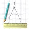 Kompass und Bleistift