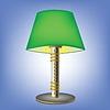 Dekorative grüne Tischlampe
