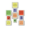 abstrakten quadratischen Infografik Business-Elemente