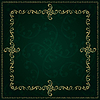 Gold frame with vintage floralen Elementen | Stock Vektrografik