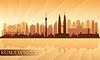Kuala Lumpur Skyline der Stadt | Stock Vektrografik