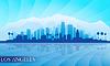 Los Angeles Skyline der Stadt detaillierte Silhouette | Stock Vektrografik