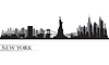 New York City Skyline szczegółowe sylwetka | Stock Vector Graphics
