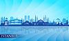 Istanbul Skyline der Stadt detaillierte Silhouette | Stock Vektrografik