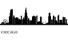 Chicago skyline miasta sylweta tła | Stock Vector Graphics