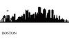Boston Skyline der Stadt Silhouette Hintergrund | Stock Vektrografik