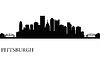Pittsburgh Skyline Silhouette Hintergrund | Stock Vektrografik